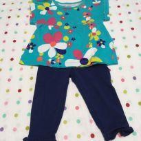 Camiseta Florida + Calça Azul Marinho Carter´s - 9 meses - Carter`s