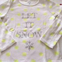 Camiseta manga longa Let It Snow Carter´s - 3 anos - Carter`s