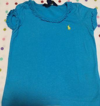 Camiseta Azul Céu Ralph Lauren - 2 anos - Ralph Lauren