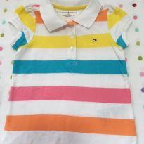 Camisa polo listrada Tommy Hilfiger - 2 anos - Tommy Hilfiger