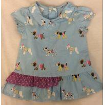 Blusa/Vestido Cachorrinho - Alphabeto - 3 a 6 meses - Alphabeto