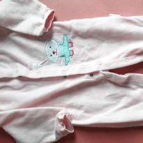 2 macacões de fleece 12m pijama - 9 a 12 meses - Não informada