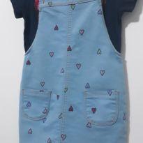 Vestido jardineira - 4 anos - Não informada e Marca não registrada