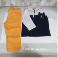 Conjunto de calça e blusa pólo de manga comprida - 6 a 9 meses - Milon