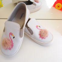 Tênis branco Flamingo - 26 - Pesh