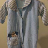 Macacão azul - 0 a 3 meses - Babinha