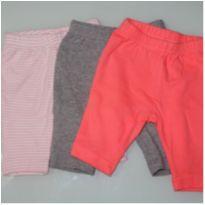kit com 3 calças - 0 a 3 meses - Circo
