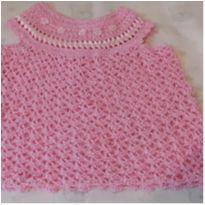 Vestido Crochê - 0 a 3 meses - Não informada
