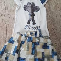 Conjuntinho saia e blusa Lilica Ripilica princesas de 02 e 03 - 2 anos - Lilica Ripilica
