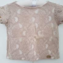 Camiseta toda em renda para princesas de 02 e 03 anos - 24 a 36 meses - Não informada