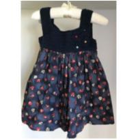 vestido tricô joaninha bebê - 12 a 18 meses - Não informada