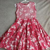 Vestido de festa floral - 6 anos - Mio Bebê