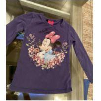 Camiseta manga longa Minnie azul - 3 anos - Disney