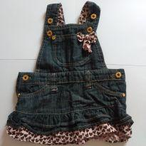 Jardineira jeans  fofįssima. - 9 a 12 meses - Mania Baby