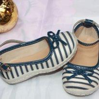 Sapato listras azul - 22 - baby club