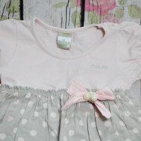 Vestido rosa com bolinhas - 2 anos - Milon