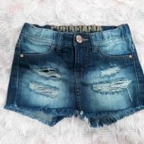 short saia jeans - 4 anos - Puramania
