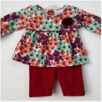 Conjunto Menina Floral Kyly 6 Meses. - 6 meses - Kyly