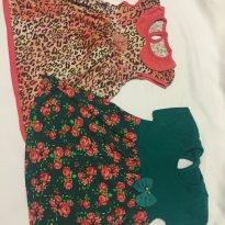 Kit de 2 Vestidos - Tamanho P - 0 a 3 meses - Rovitex Kids e Tile e Sul