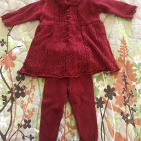Saída Maternidade Menina - 0 a 3 meses - Paola tricot