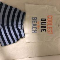 Conjunto - Short e Camiseta Carter's - 3 meses - Carter`s