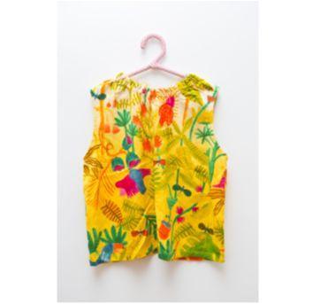 Blusa sem manga estampa Jardim Fábula - 4 anos - Fábula