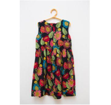 Vestido sem manga estampa floral Fábula - 4 anos - Fábula