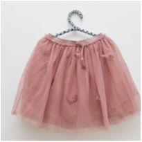 Saia de tule rosa Zara - 6 anos - Zara