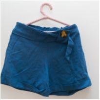 Short azul com botão Zara - 8 anos - Zara