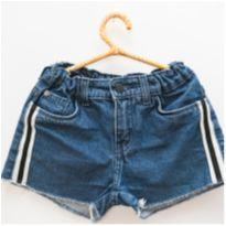 Short jeans com listras - 8 anos - Palomino