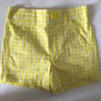 short xadrez amarelo algodão - 3 anos - Healthtex
