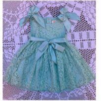 Vestido em renda com fitas de cetim - 1 ano - Mily