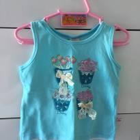 Blusinha Azul - 6 a 9 meses - DILA