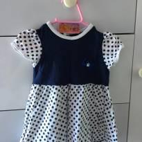 Vestido de Bolinha - 6 a 9 meses - Infant baby