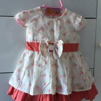 Vestido Florido - 3 a 6 meses - S Baby