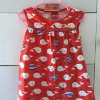 Vestido de Baleia - 12 a 18 meses - Kyly