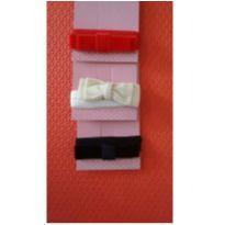 Kit com 3 tiaras preta, vermelha e bege. -  - Outros
