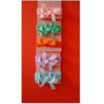 Kit com 5 tiaras azul, lilás, laranja, verde e rosa. -  - Outros