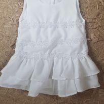 Vestido branco - 9 a 12 meses - sonia