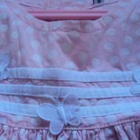 lindo vestido rosa de bolinha.. - 6 a 9 meses - etiqueta foi cortada