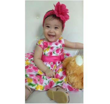 VESTIDO FESTA FLORAL AMERICAN PRINCESS - 18 a 24 meses - American Princess
