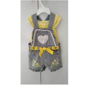 CONJUNTO JARDINEIRA IMPORTADA EUA - 9 a 12 meses - Nannette Baby - USA
