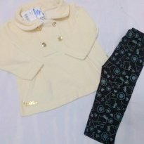 CONJUNTO CASACO PLUSH E LEGGING COTTON ESTAMPADO