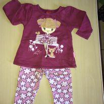 Conjunto de moletom para menina - 6 meses - Kyly