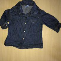 Camisa jeans para menina - 3 a 6 meses - yoyo Baby
