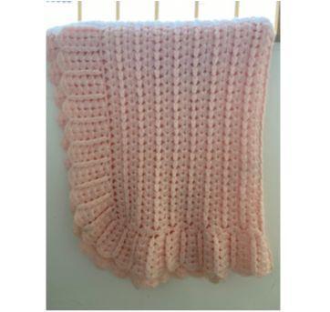 Manta rosa de tricot - Sem faixa etaria - Sem marca
