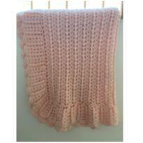 Manta rosa de tricot -  - Sem marca