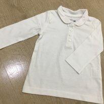 Blusa Branca Marca Pré Natal Importada - Tam.6 a 9 meses - nunca usado