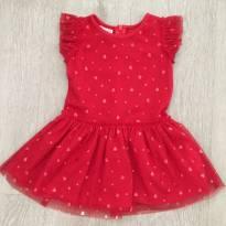 Vestido vermelho Pré Natal - importado - de 9 a 12 meses - 9 a 12 meses - Pré Natal