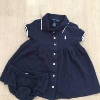 Vestido marinho Ralph Lauren 12 meses - com calcinha - praticamente novo - 1 ano - Ralph Lauren
